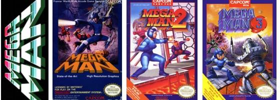 Mega Man Nes covers