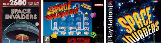Space invaders console