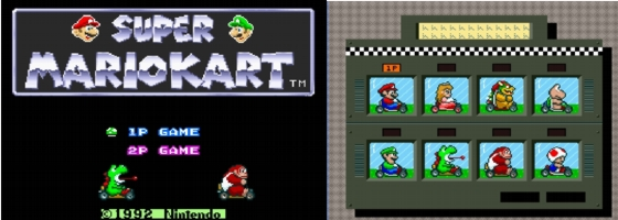 Super Mario kart Start screen