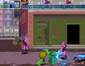 Testoasele Ninja 4 - scena din joc