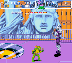 Testoasele Ninja lupta finala contra Shreder