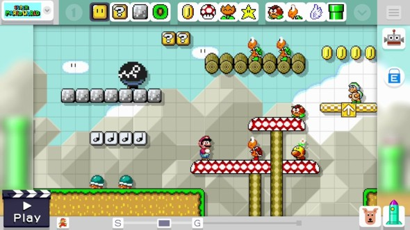 screenshot joc Super Mario maker