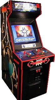 Mortal Kombat 2 arcade cabinet