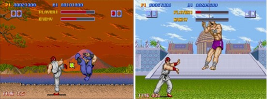 Street Fighter 1 fight screen