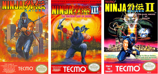 Ninja Gaiden nes covers