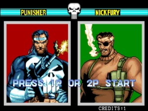 The Punisher select screen