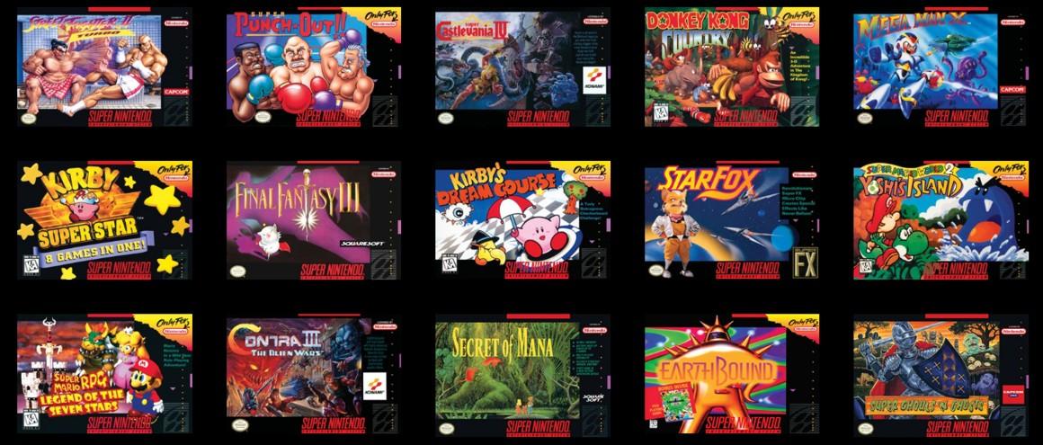 jocuri SNES clasic mini